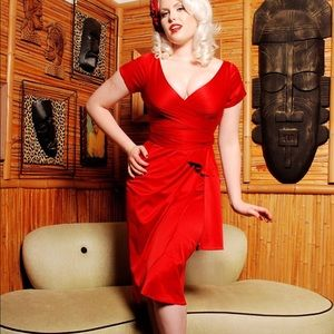 Pinup Couture Red Ava Dress - Size M